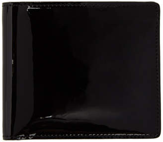 Maison Margiela (メゾン マルジェラ) - Maison Margiela ブラック パテント バイフォールド ウォレット