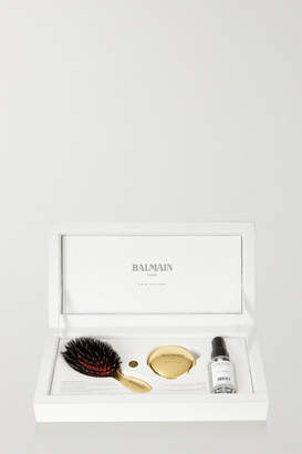 Couture Balmain Paris Hair Mini Gold-tone Spa Brush Set
