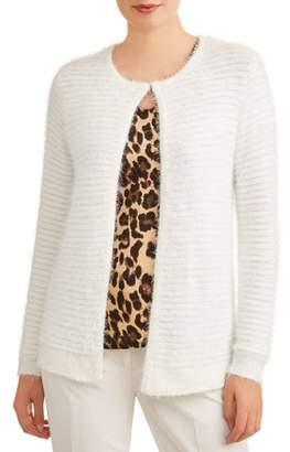 Donna Sorrento Women's Fuzzy Cardigan Jacket