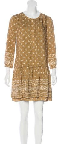 Burberry Burberry Brit Silk Floral Print Dress