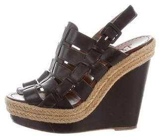 Christian Louboutin Leather Wedge Heels