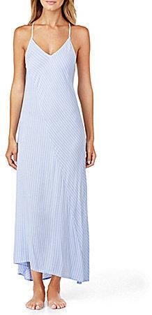 DKNYDKNY Striped Cutout Hi-Low Lounge Maxi Dress
