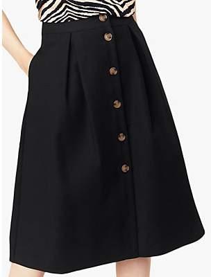 4821f74e3 Oasis Button Through Midi Skirt, Black