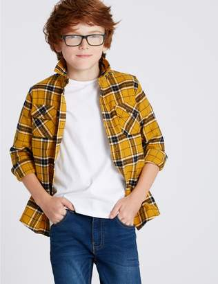 Marks and Spencer Pure Cotton Checked Shirt (3-16 Years)