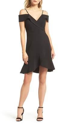 Adelyn Rae Cold Shoulder Ruffle Sheath Dress