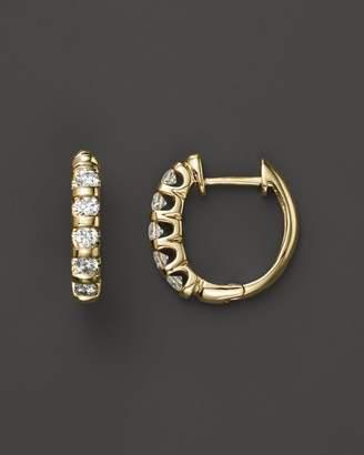 Bloomingdale's Diamond Bar Band Hoop Earrings in 14K Yellow Gold, .50 ct. t.w. - 100% Exclusive