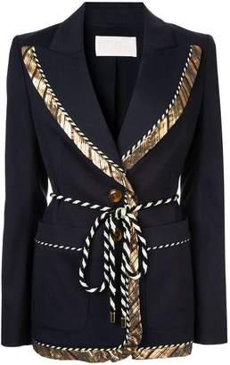 Peter Pilotto gold trim rope tie blazer