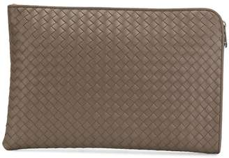 Bottega Veneta steel Intrecciato small document case