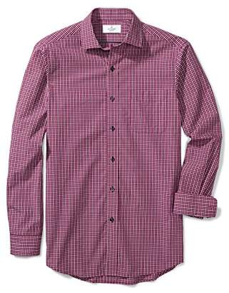 Buttoned Down Men's Classic Fit Supima Cotton Spread-Collar Pattern Sport Shirt