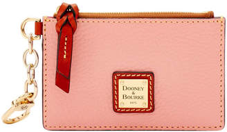 Dooney & Bourke Pebble Grain Zip Top Card Case