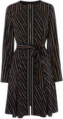 Karen Millen Chain Print Tie Waist Dress