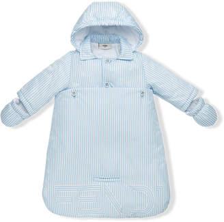 Fendi striped hooded coat