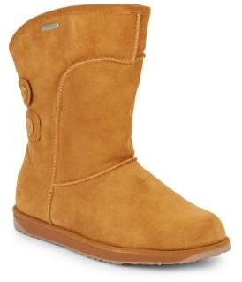 Charlotte Shearling-Lined Suede Boots $199 thestylecure.com