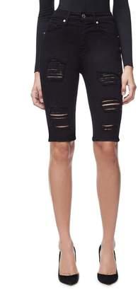 Ga Sale The Ripped Bermuda Jean Short - Black020