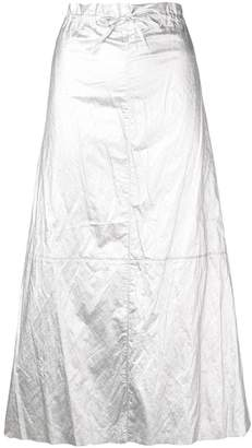 MM6 MAISON MARGIELA crinkle effect full skirt