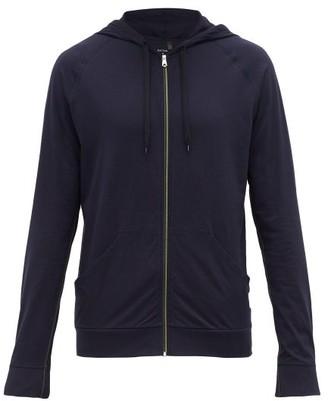 Paul Smith Zip Through Hooded Cotton Sweatshirt - Mens - Navy