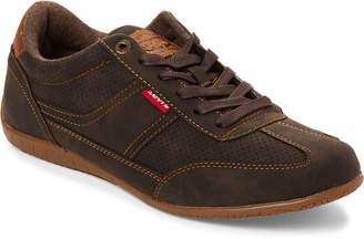 Levi's Brown Upland Waxed Low-Top Sneakers