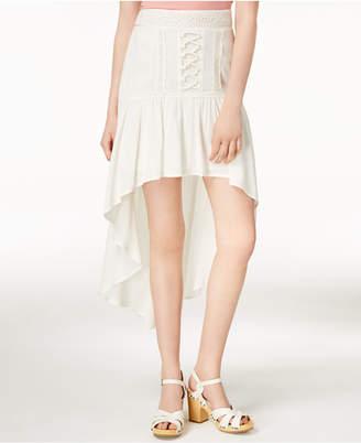 American Rag Juniors' Crochet-Trimmed High-Low Skirt