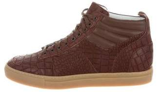 Del Toro Embossed Leather Boxing Sneakers w/ Tags