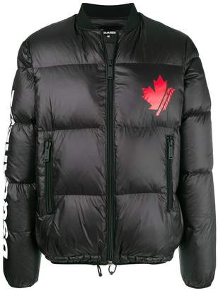 DSQUARED2 logo down jacket