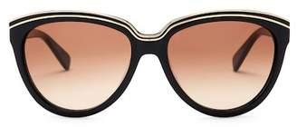 Diane von Furstenberg Women's Mila 56mm Cat Eye Sunglasses