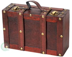 Vintiquewise Old-fashioned Small Suitcase with Straps