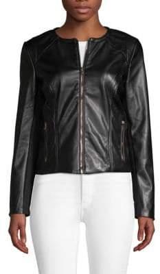 Moto Faux-Leather Jacket