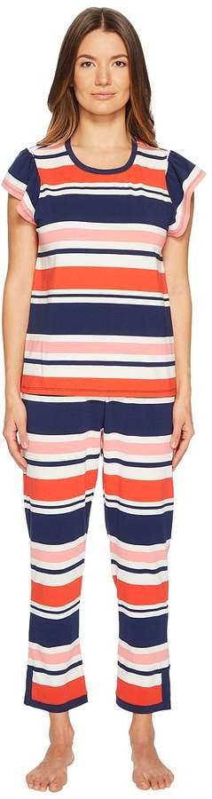 Kate Spade New York - Multi Stripe Pajama Set Women's Pajama Sets