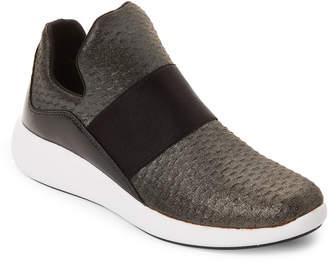 Donna Karan Gunmetal & Black Cory Slip On Sneakers