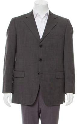 Fendi Wool Three-Button Blazer grey Wool Three-Button Blazer