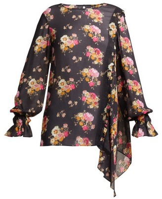 Preen Line Sofia Floral Print Blouse - Womens - Black Print