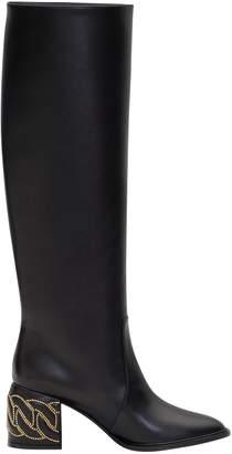 Casadei Tubular Boots With Chain Detail