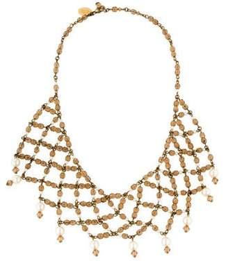 Erickson Beamon Crystal & Pearl Multistrand Necklace