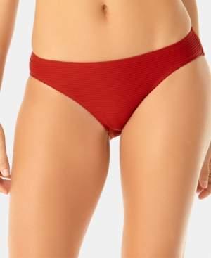 Anne Cole Studio Solid Goddess Ribbed Bikini Bottoms Women's Swimsuit