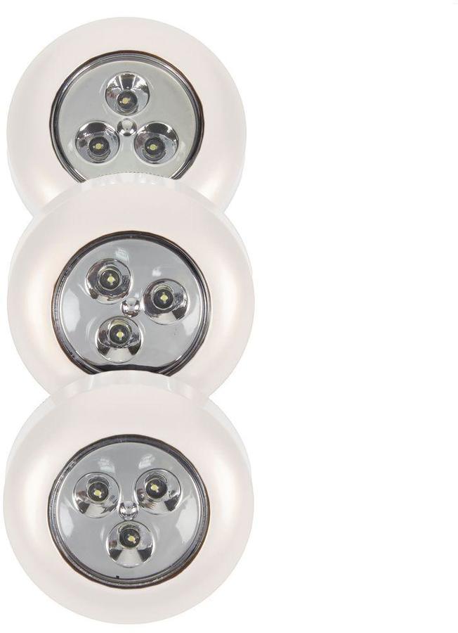 Light It! White Stick-on Light 3-Pack