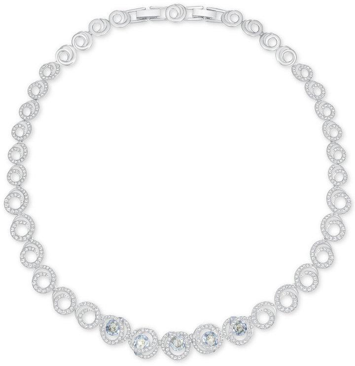 SwarovskiSwarovski Generation Silver-Tone Swirl Crystal Collar Necklace