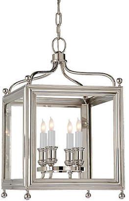 Visual Comfort & Co. Greggory 4-Bulb Lantern - Polished Nickel