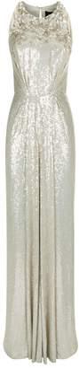Jenny Packham Crystal-Embellished Sequinned Gown