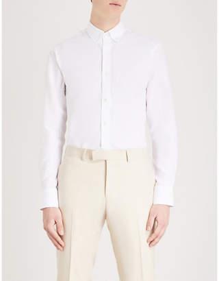 Tiger of Sweden Donald slim-fit cotton and linen-blend shirt