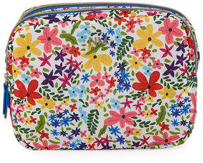 Neiman Marcus Double Zip Cosmetic Bag