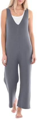 Freya Paper Label Lucent Cotton Rib-Knit Jumpsuit