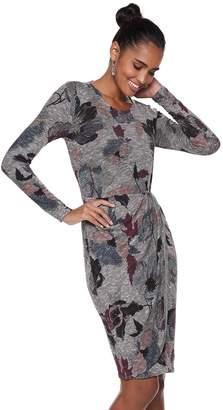 JLO by Jennifer Lopez Women's Pleated Faux-Wrap Dress