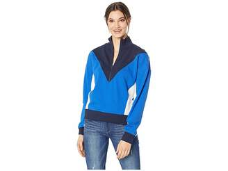 Juicy Couture Track Terry Color Block Zip-Up Pullover Women's Sweatshirt
