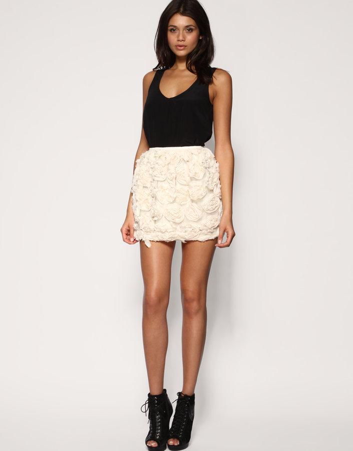 Rare Opulence Chiffon Rosette Skirt
