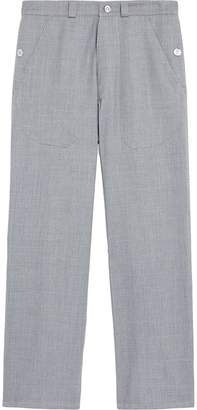 MACKINTOSH 0003 Grey Wool 0003 Work Trousers