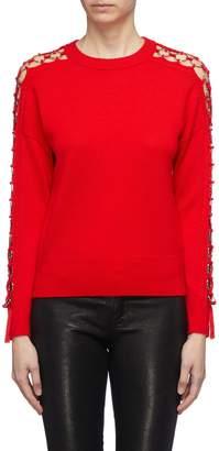 Jonathan Simkhai Metal ring cutout sleeve wool sweater