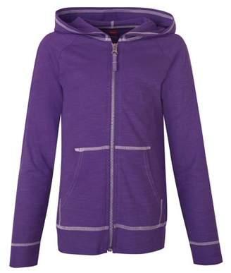 Hanes Girls' Slub Jersey Full Zip Jacket