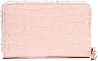 Alexander McQueen Zip-around continental leather wallet