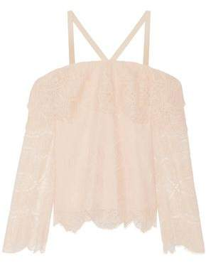 Jonathan Simkhai Cold-Shoulder Corded Lace Top