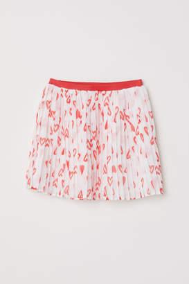 H&M Pleated Skirt - White